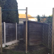 two pull up bars outdoor