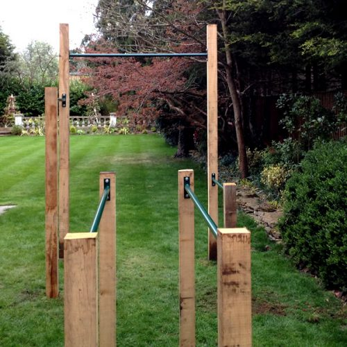 parallel bars with pullupbar