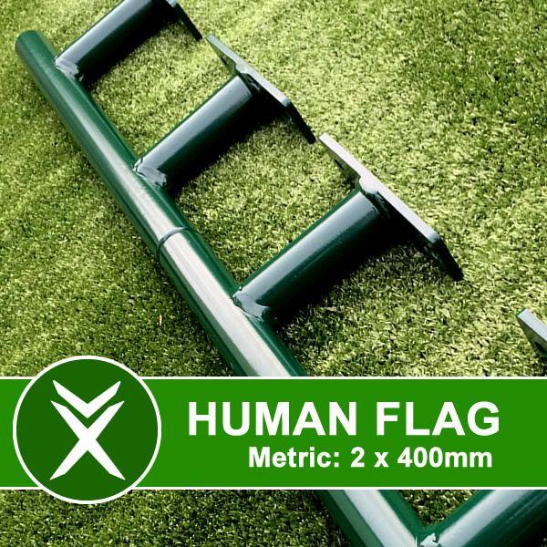 human flag bars
