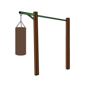 outdoor punch bag holder
