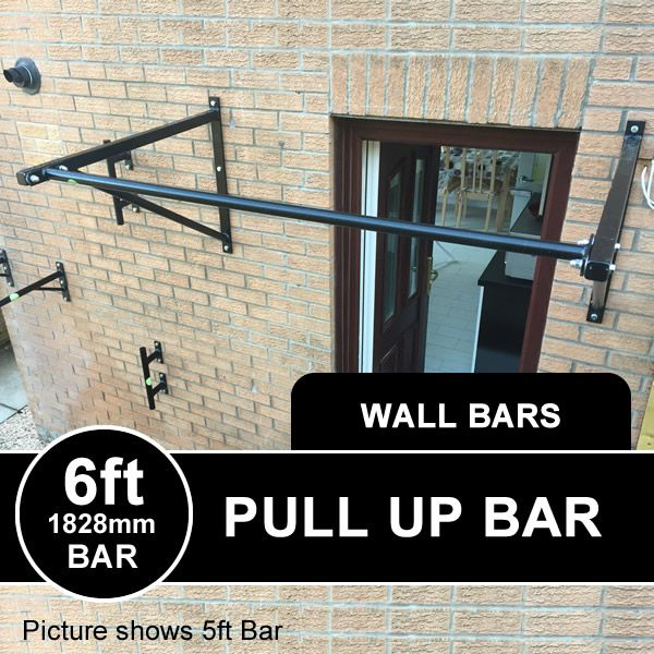 6ft Wide Heavy Duty Wall Mounted Pull Up Bar Xorbars