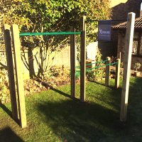 The Gladiator Outdoor Pull Up Bar Gym