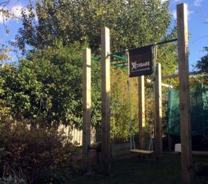 metal monkey bars garden